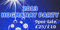2013 Hogmanay party Dalkeith Scotland UK